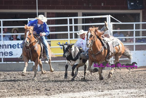 Trevor Knowles is your 2015 Calgary Stampede Steer Wrestling Champion with a time of 3.9 Seconds!