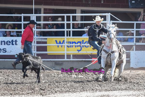 Timber Moore had a sweet run of 8.1 Seconds and walked away with the title of 2015 Calgary Stampede Tie-Down Roping Champion!