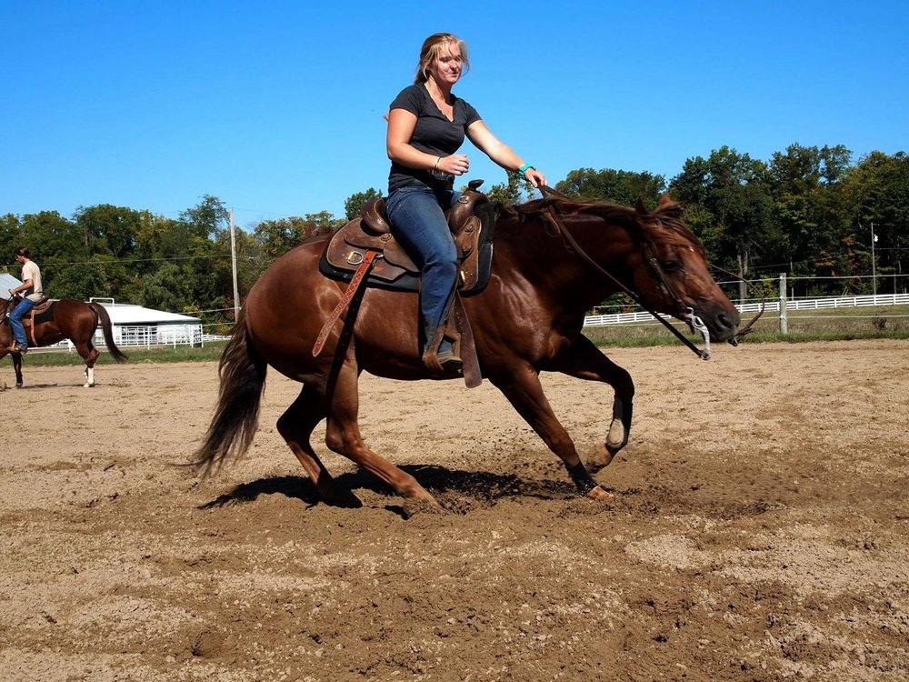 Kate Kempston showing off her turnaround skills on a UF Reiner.