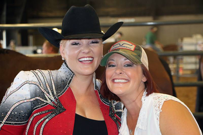 Marjorie Parks and Andrea Kail showin' off their winning smiles!