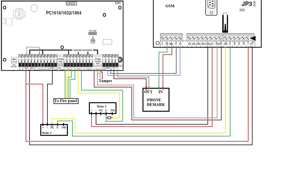 ULC TL250 Wiring Diagram  sc 1 st  Super Security Tech : vista 20 wiring diagram - yogabreezes.com
