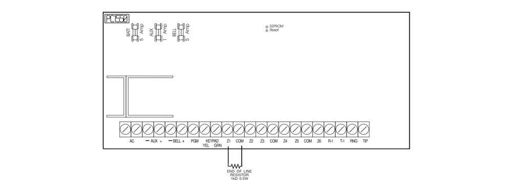dsc 1550 super security tech rh supersecuritytech com Home Fire Alarm Wiring Diagram Honeywell Home Alarm Wiring Diagram