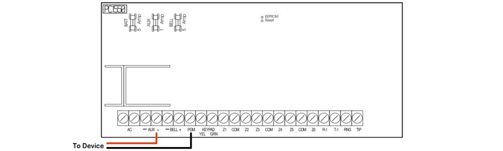 dsc 1550 super security tech rh supersecuritytech com Home Fire Alarm Wiring Diagram Home Security Camera Systems Schematics