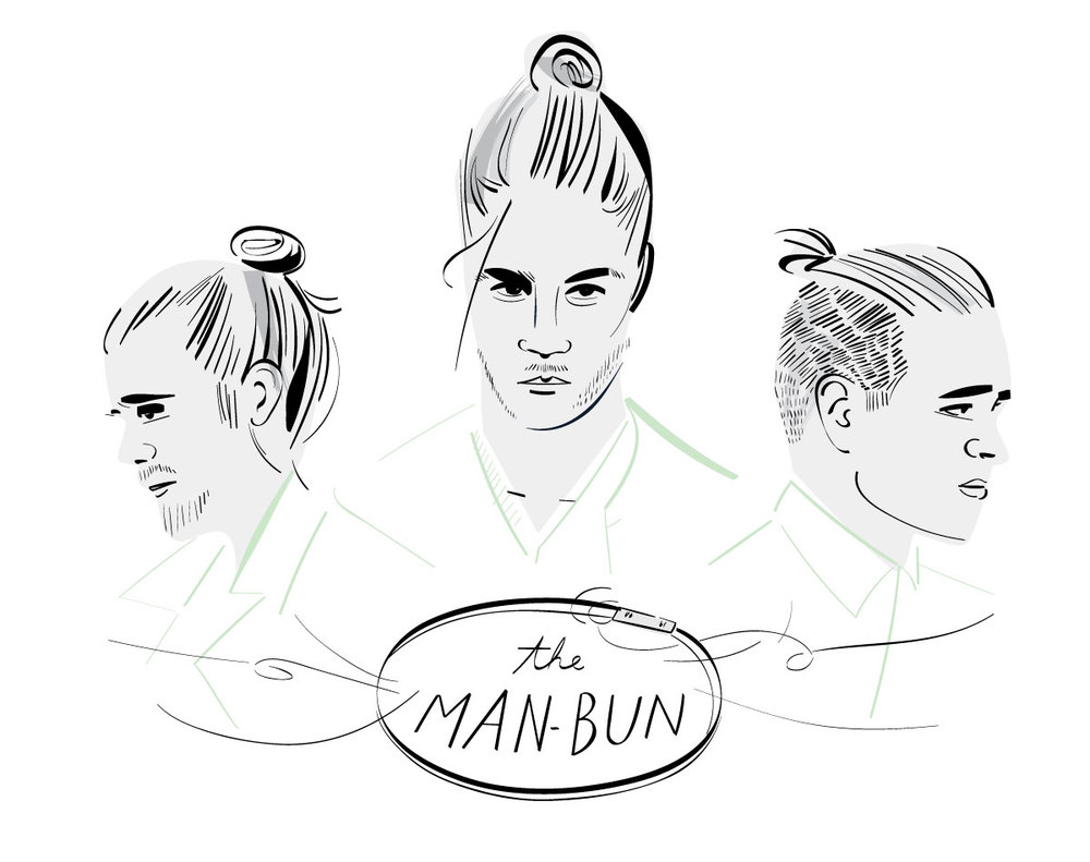 ...and how can you talk about men's grooming trends without a bit about the man-bun, for Man Made