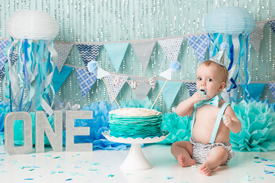 orange county baby cake smash turning one under the sea banner bow tie hat suspenders birthday