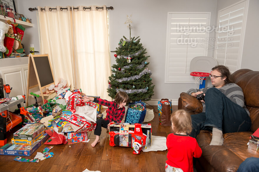 the magic of tearing open gifts christmas morning
