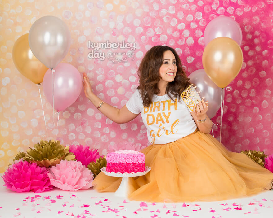 orange county photographer princess cake smash
