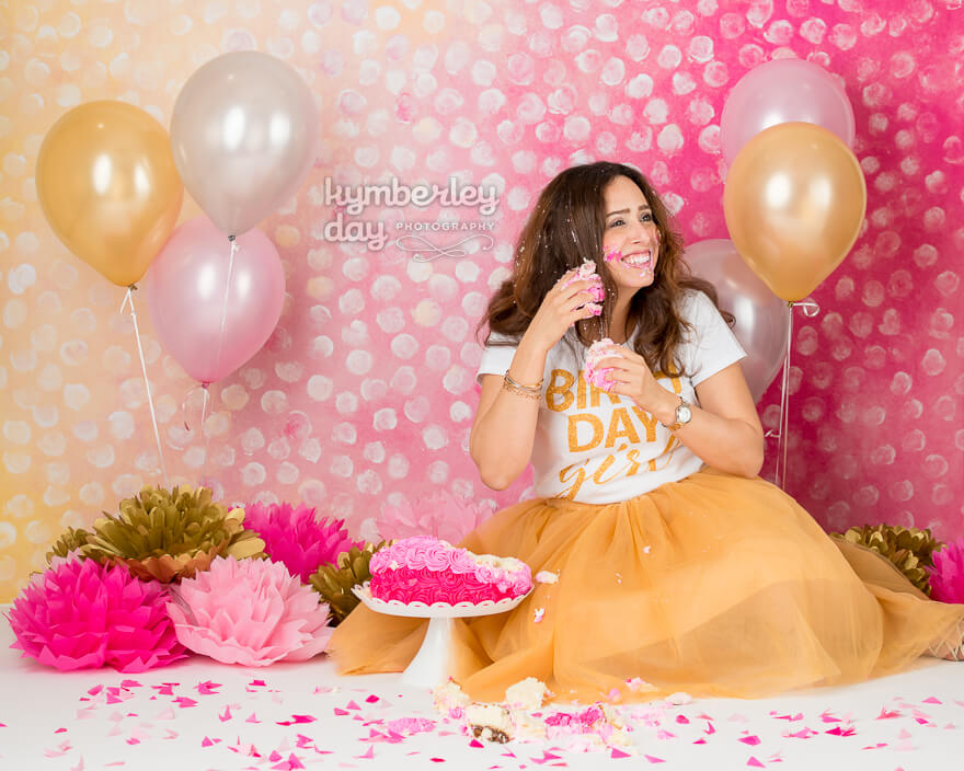 cake smash smiling laughing orange county photographer