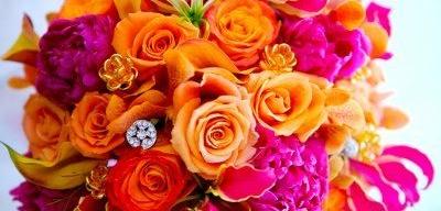 Bright pops of Fanta orange and hot pinks