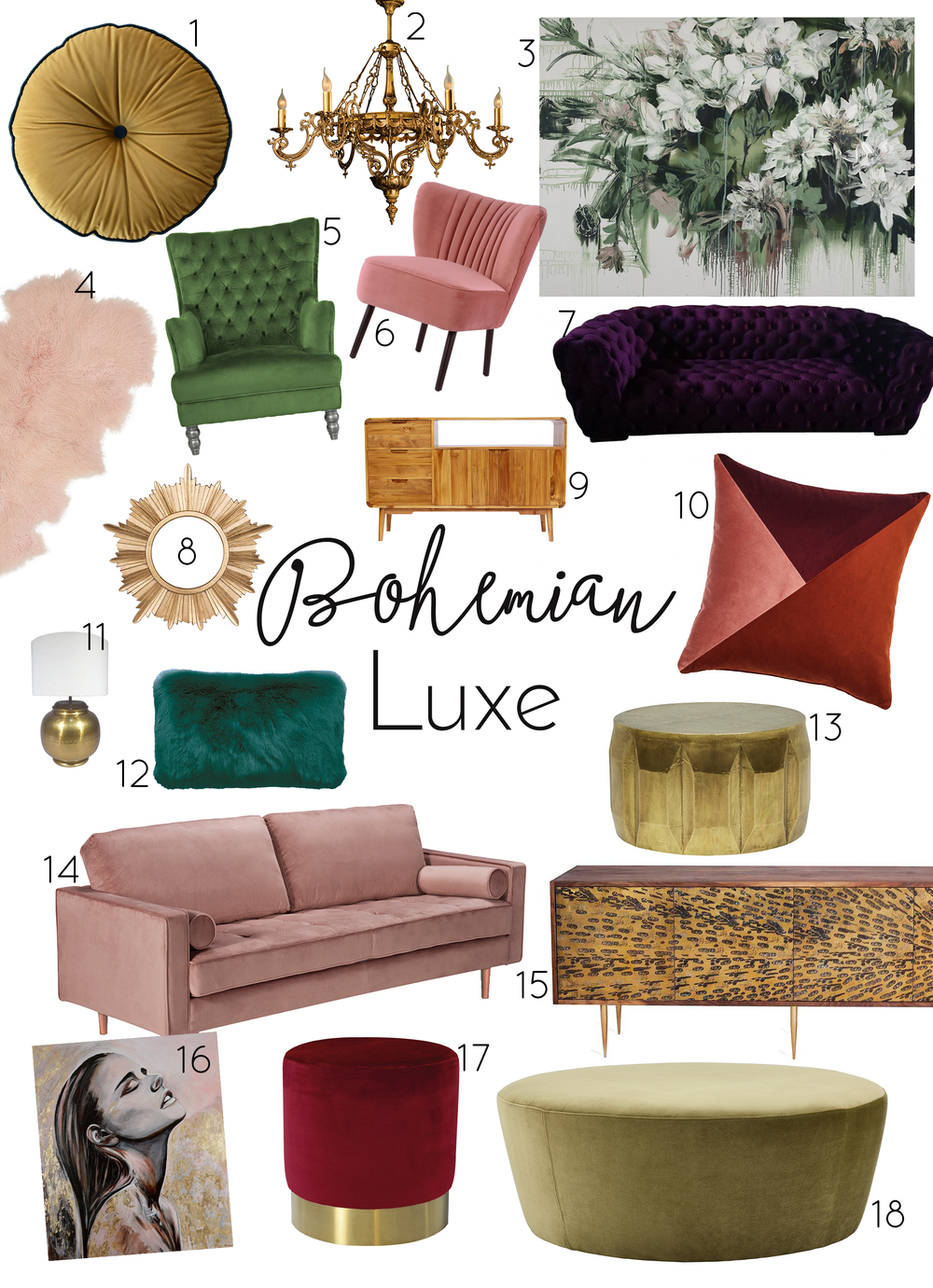 Think of… - luxury, velvet, brass, gold, silks, jewel tones, herringbone, mid modern century, art deco, vintage, extravagance