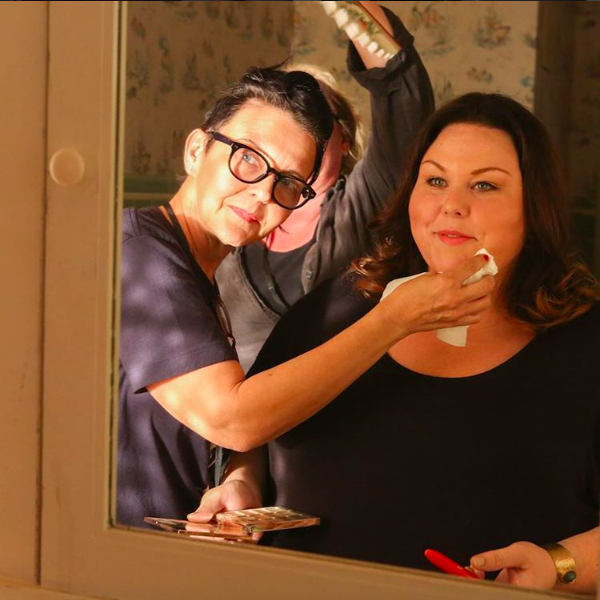 Makeup Department Head Zoey Hay with Chrissy Metz Photo by: instagram.com/nbcthisisus