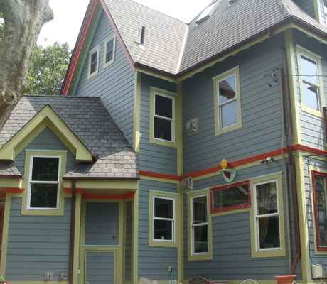 Hardie Fiber Cement in pre finished colors.