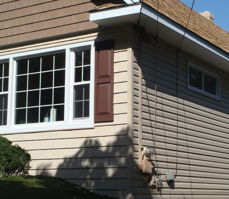 New Shake, Siding, Windows and window shutters