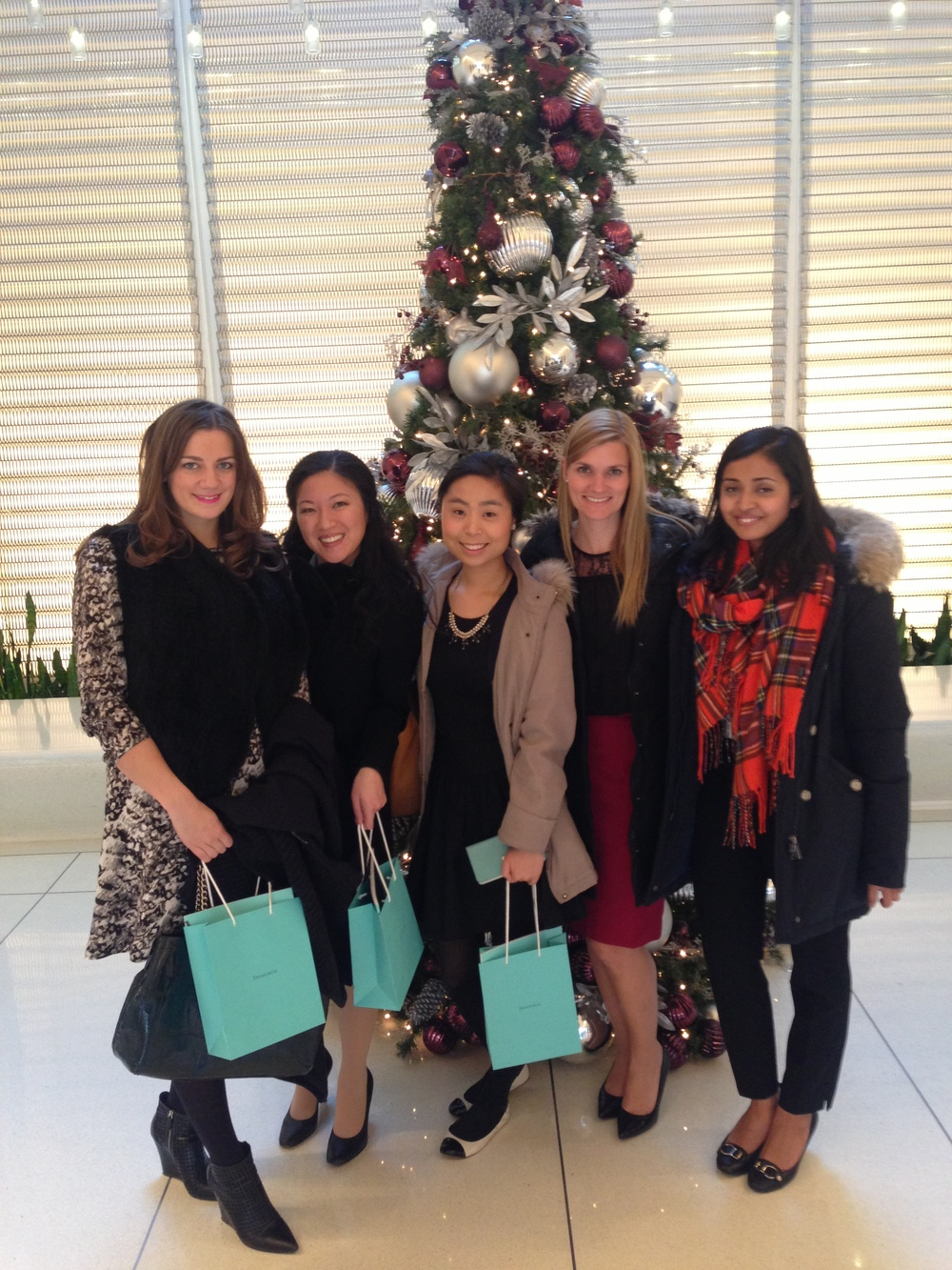 @ Tiffany & Co. (from L to R) Sarah Jahnke, Andi Hadisupjipto, Sana Suh, Julie Hasiba, Faria Jabbar.