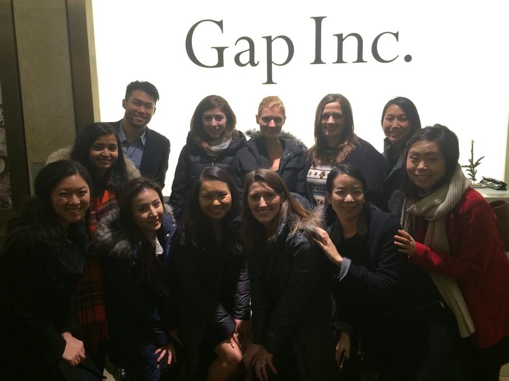 @ Gap (from L to R) Back Row - Patrick Yan, Emma Rotenberg, Julie Hasiba, Sarah Jahnke, Sally Yoon. Front Row - Andi Hadisutjipto, Faria Jabbar, Irene Tsai, Mary Yang, Insley Haynes, Mina Kim, Sana Suh.