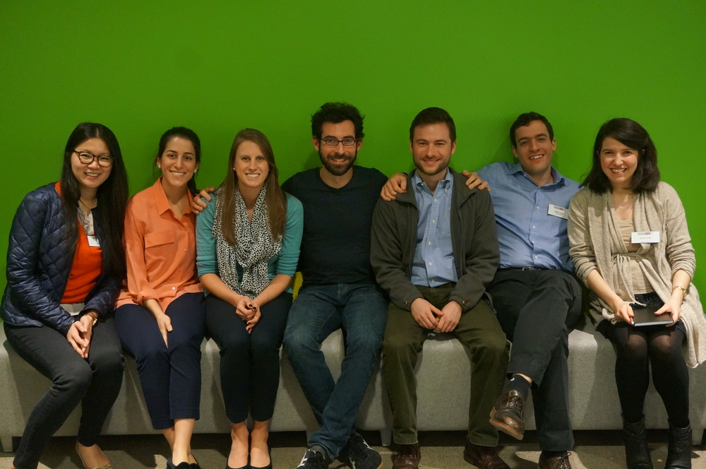 The Ed Tech trek visits Udemy, with our host, Ruben Kogel ('14), sitting in the middle.