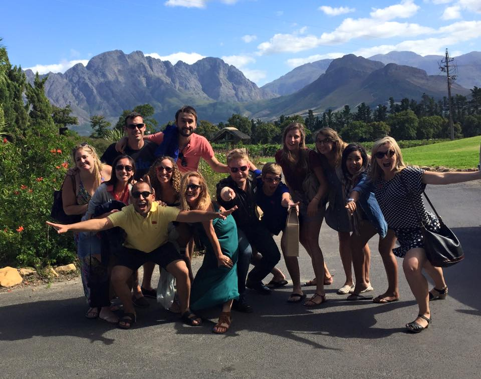 Booth students spending some quality time abroad in South Africa's wine country