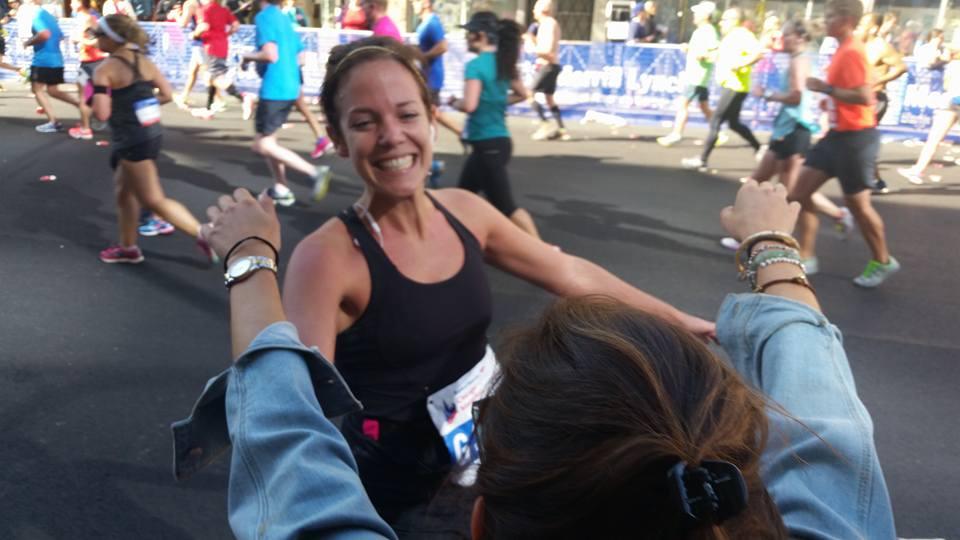 Emily Ruff: serene at mile 16.5
