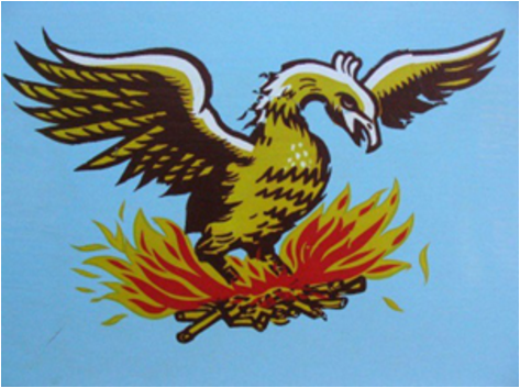 Beirut, symbolized by the phoenix, will rise again.