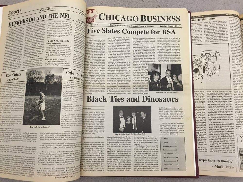The Chicago Business archives date back to 1961.