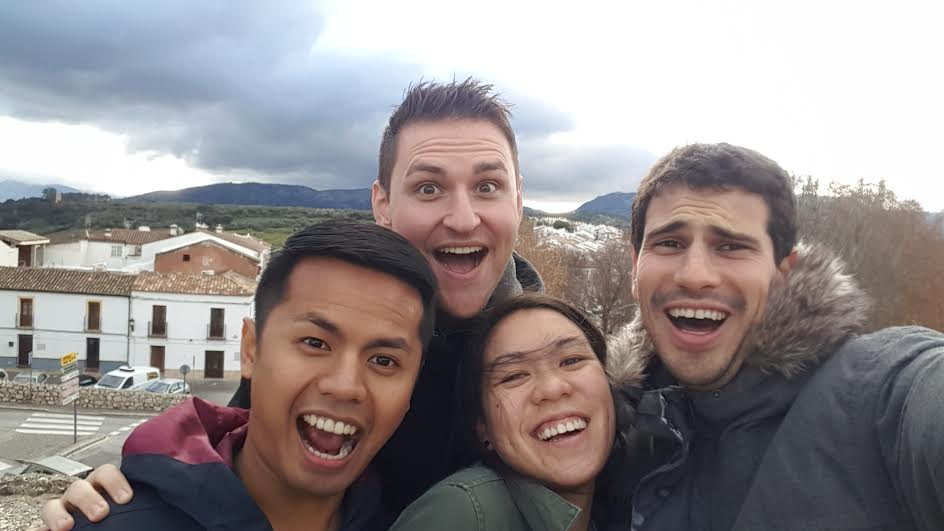 2016 Boothies Shahrul Ramli, Jordy Freeman, Melissa Lui, and Pablo Cosovschi in Malaga province, Spain
