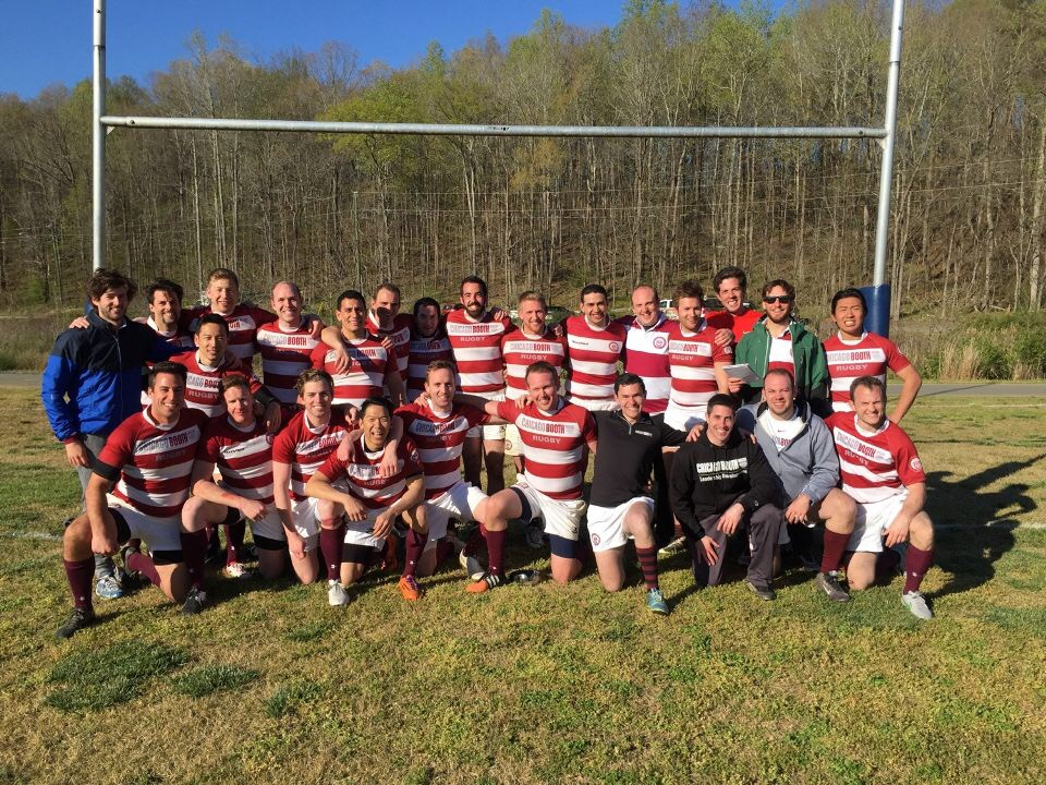 Booth Rugby Team at the MBA World Cup hosted at Duke in Danville, Virginia