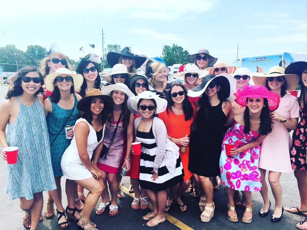 "Boothies took over Derby last weekend, with Booth Ladies putting their best ""hat"" forward!"