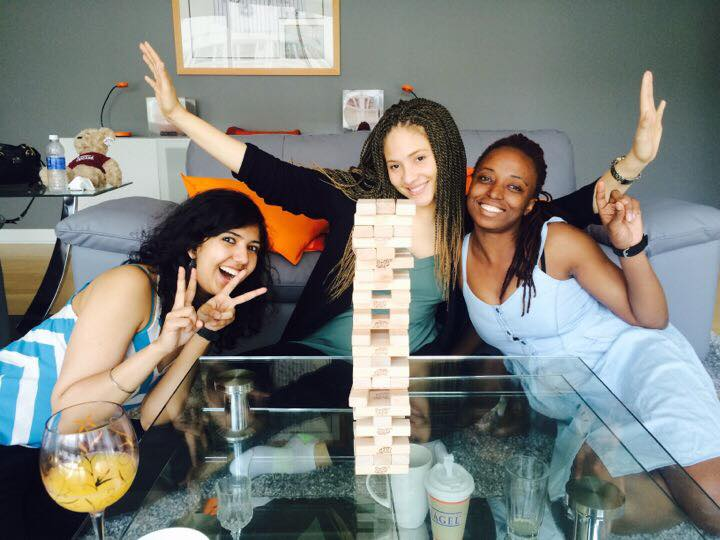 Alexis Miller, Oma Nwab, Rikki Singh and Rose Zhou decide to look beyond analytical and challenge their motor skills with Jenga Sunday!