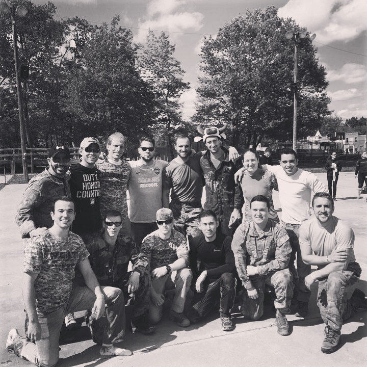 Veterans at their signature Paintball event