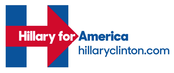 Clinton commissioned a new font specifically for her campaign. The typeface, named Unity, is a clear product of design-by-focus-group. Its rounded dots and tails desperately attempt to convey friendliness and non-cynicism, at odds with the rest of her campaign.