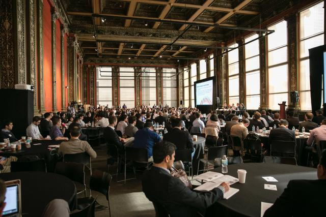 Hundreds of Booth and Kellogg alums and current students gathered at the Chicago Cultural Center to engage during Entrepreneurship Through Acquisition Conference.