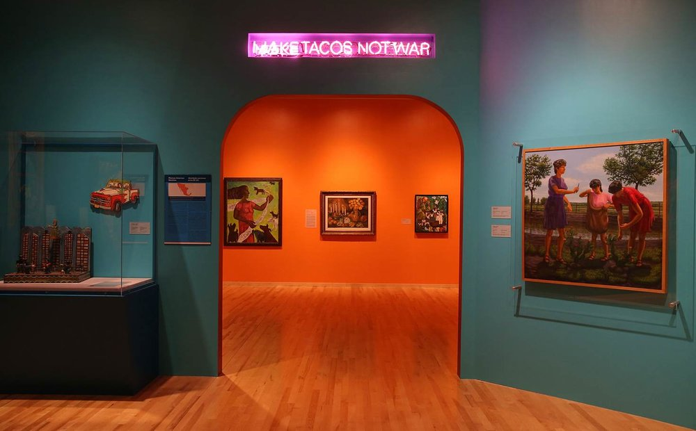 The colorful interior of The National Museum of Mexican Art in Pilsen. Photo courtesy of Getty/ Chicago Tribune.
