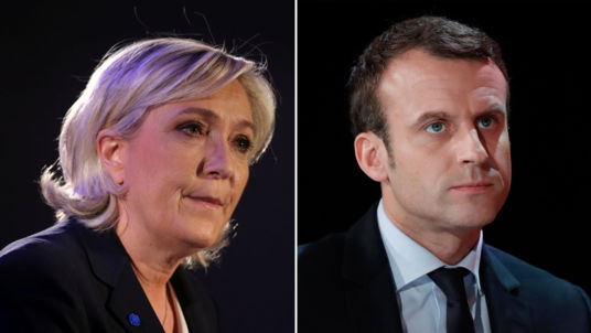 LePen (left) and Macron (right) want to take France and Europe in completely opposite directions.
