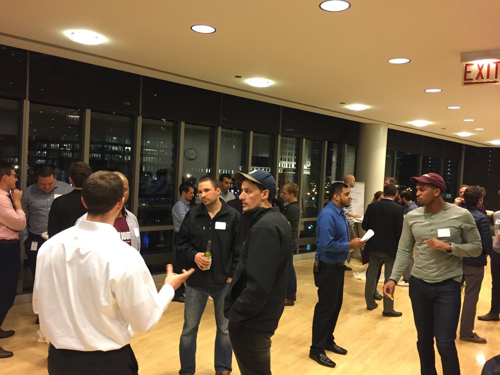 Chicago Booth Real Estate Group kicked off spring quarter with a mixer on Thursday, April 13 at Lounge 420 in the Gleacher Center. (Photo by Ardi Baftiri)
