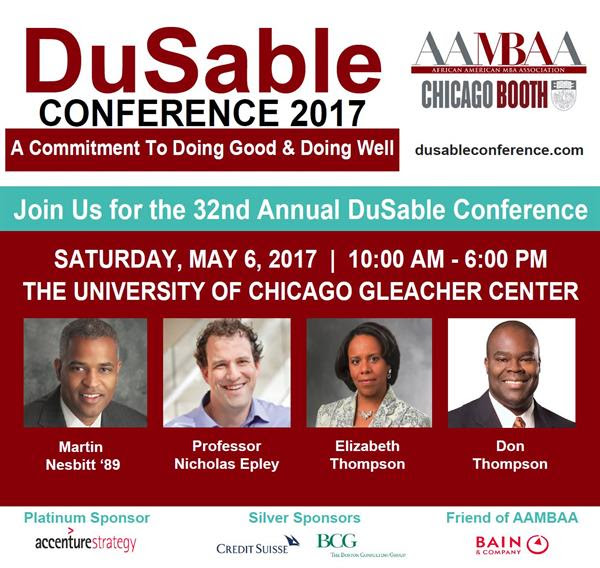 For more details on the DuSable Conference, look out for emails from AAMBAA, learn more on Booth Groups or visit  www.dusableconference.com