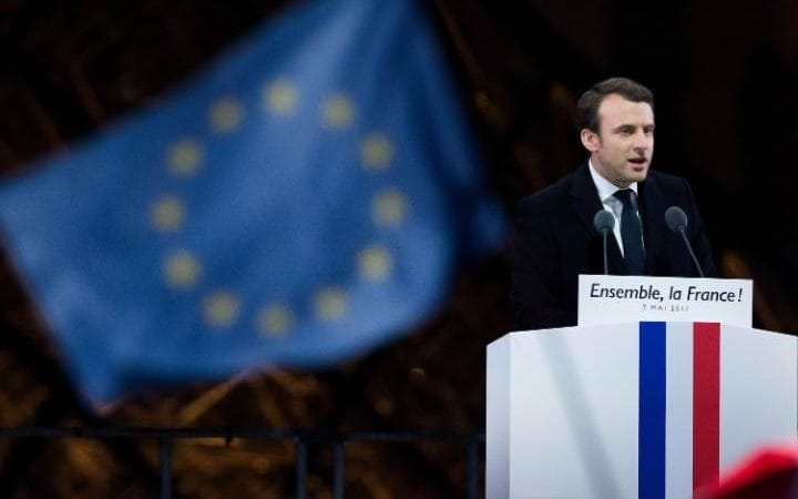 "At his inauguration, President Macron stated ""the integrity and unity of the EU will never be compromised"""