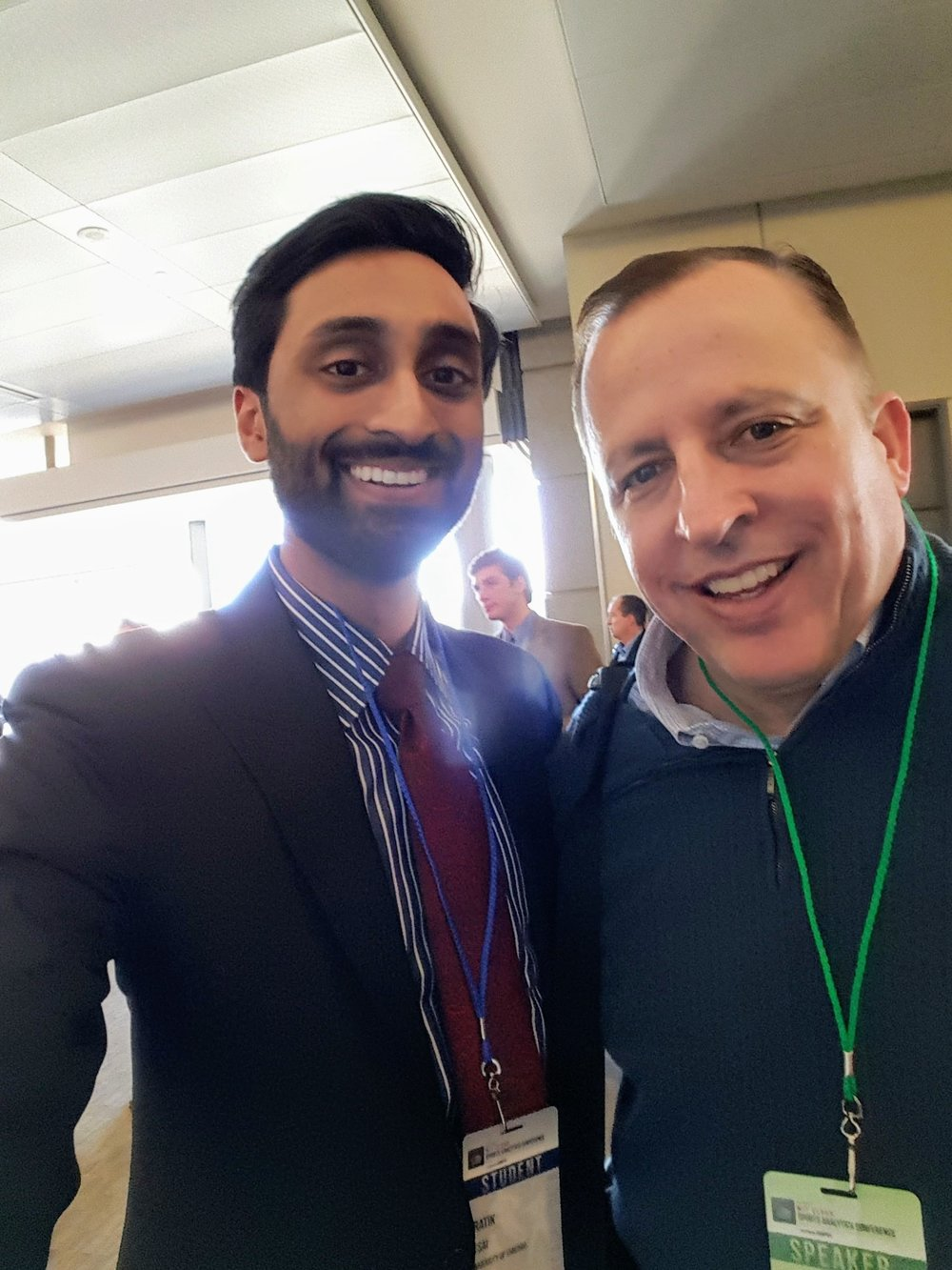 Pratik with Tom Thibodeau, former head coach of the Chicago Bulls.