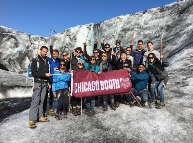 RW Iceland group takes obligatory glacier photo