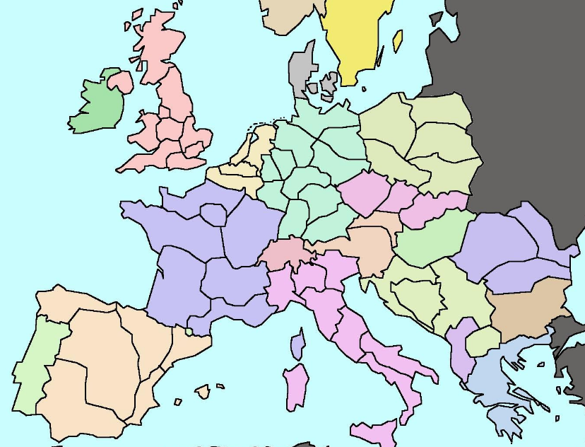 Fred Heineken's proposed redrawing of European borders.