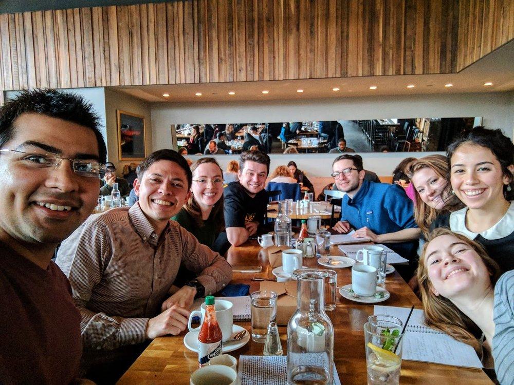 Kapnick facilitators grabbing lunch together!