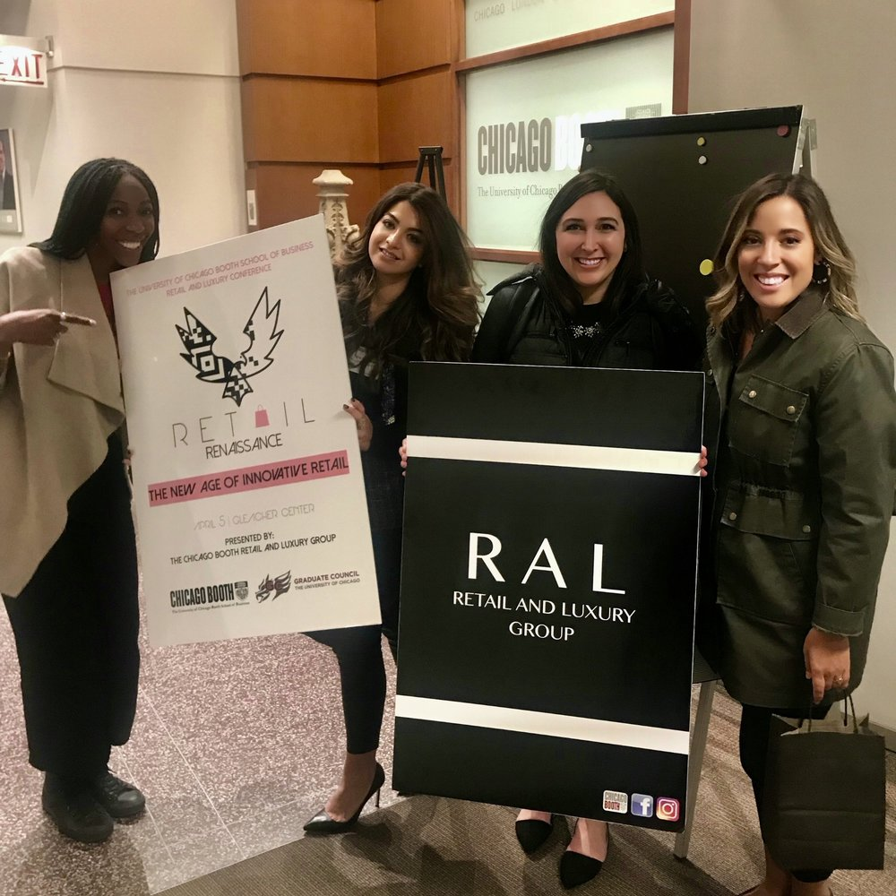 From left: Kelli Pirtle, Tina Rahmani, Natalie Docherty, and Olivia Rodriguez show off their brands after a successful conference!