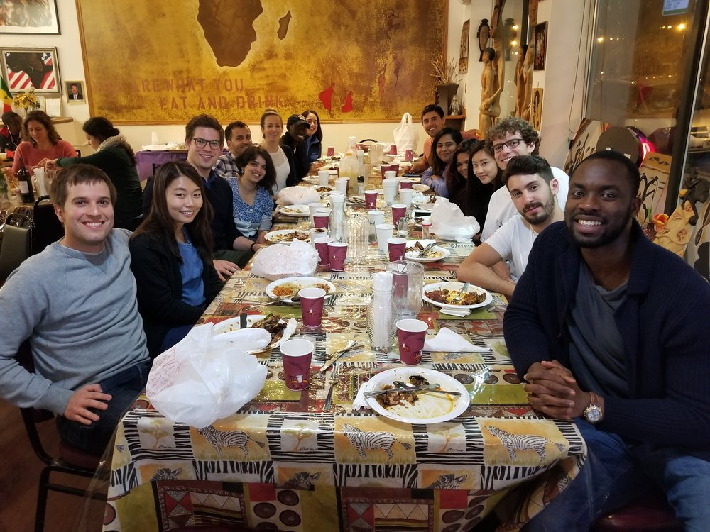 Booth students gather at the Yassa African Restaurant to enjoy delicious Senegalese food on a rare and exciting journey out of the Loop.