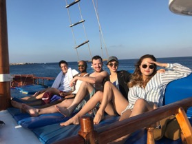 Embracing our journey aboard a pirate ship
