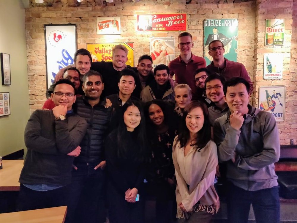 MBA exchange students at Hopleaf on Wednesday November 07, 2018