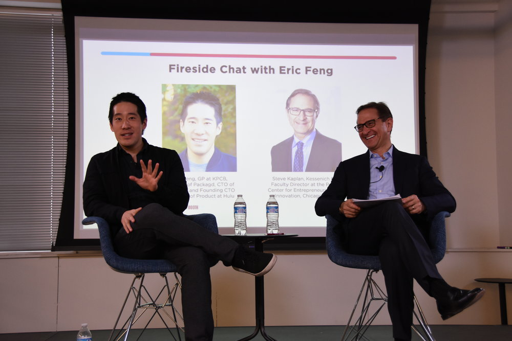Keynote Speaker Eric Feng with Prof. Steve Kaplan.JPG