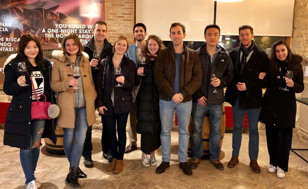 Exchange students Olya Vasilenko('19) and Gina Biernacki ('19) enjoy frosty beverages in Barcelon