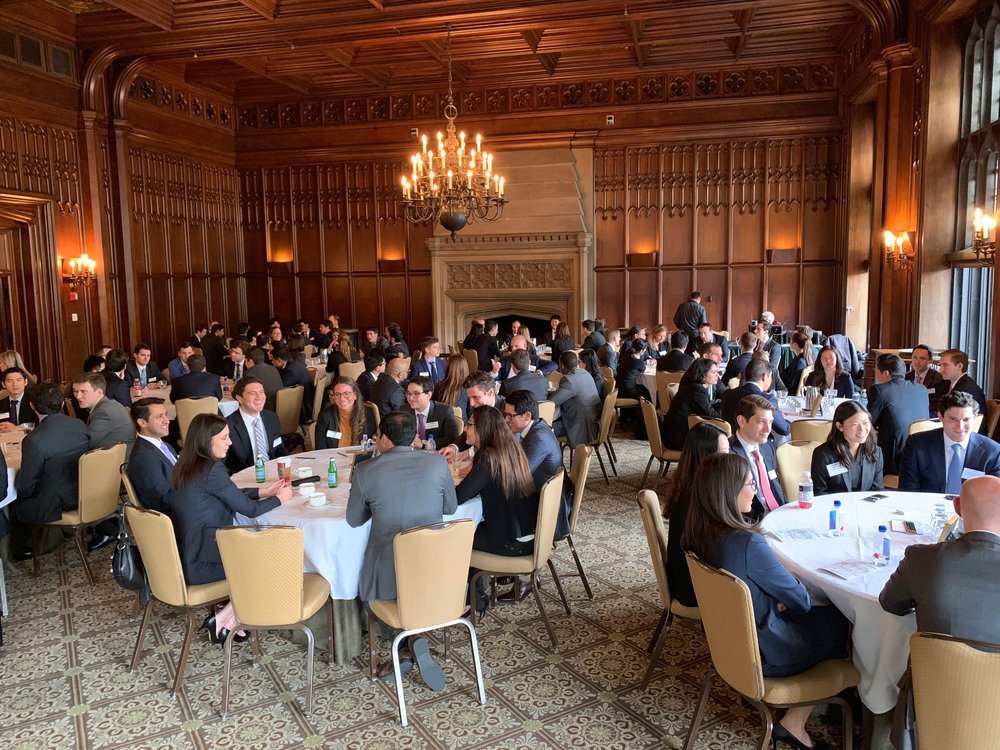 Future bankers at the Investment Banking Group Conference.
