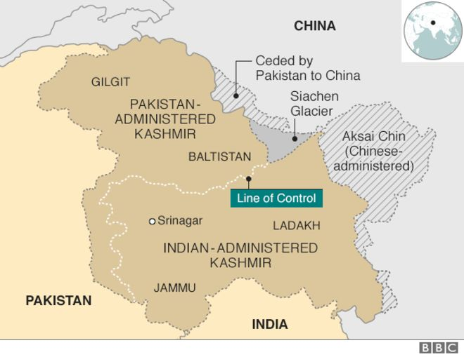 The disputed territory of Kashmir