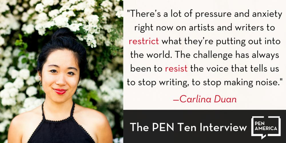 PEN AMERICA | The PEN Ten with Carlina Duan - November 21, 2017
