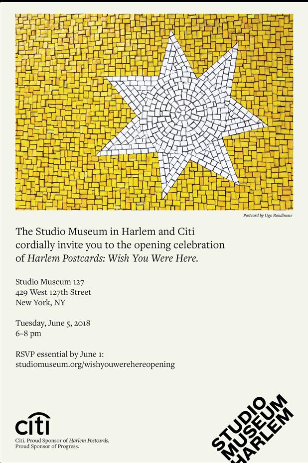 Studio Museum of Harlem | Harlem Postcards: Wish You Were Here. - June 7, 2018 - September 8, 2018